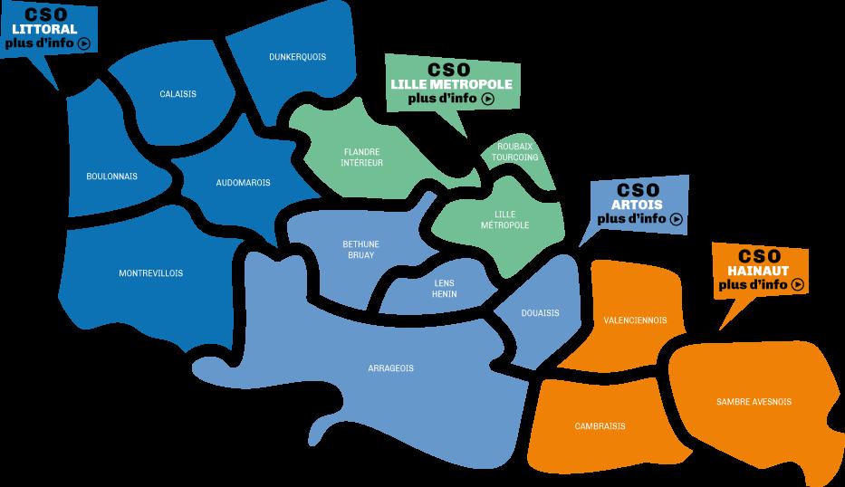 Carte des CSO